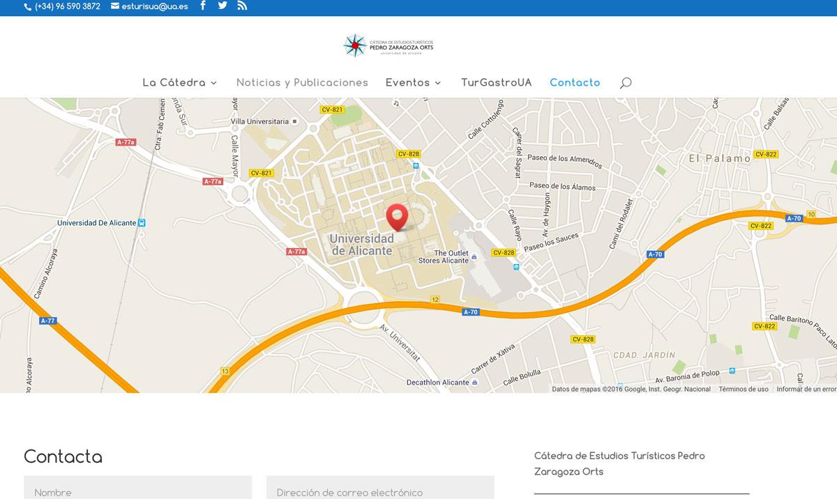 Cátedra de Estudios Turísticos Pedro Zaragoza Orts. Universidad de Alicante